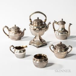 Six-piece Gorham Sterling Silver Tea and Coffee Service