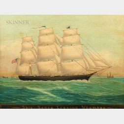 "American School, 19th Century      Ship ""Nancy"" Leaving Whampoa"