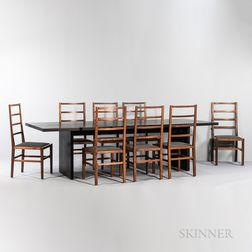 Tyler Hays for BDDW Philadelphia Altar Dining Table and Eight Side Chairs