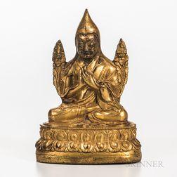 Gilt-bronze Figure of Tsongkhapa