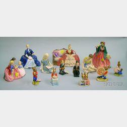 Thirteen Assorted Royal Doulton Ceramic Figures