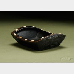 Northwest Coast Carved Wood Food Bowl