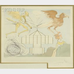Salvador Dalí (Spanish, 1904-1989)      L'Aéroplane
