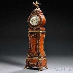 Miniature Ormolu-mounted Burl Mantel Clock