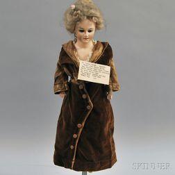 Papier-mache Turned Shoulder Head Lady Doll