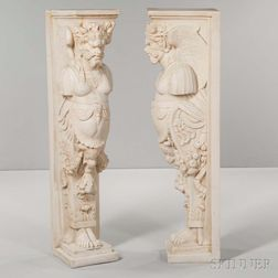Pair of Composite Neoclassical-style Caryatids