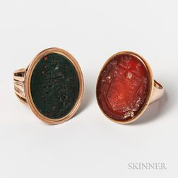 Two Intaglio Seal Rings