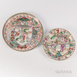 Two Rose Mandarin Plates