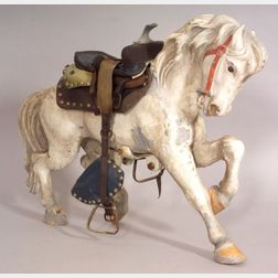 Small Painted Zinc Carousel Horse