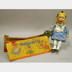 Disney Alice in Wonderland Marionette in Maker's Box