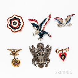 Group of Patriotic Brooches
