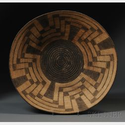Large Pima Coiled Basketry Tray
