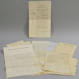 Small Group of American Autographs and Correspondence