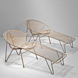 Eight Pieces of John Salterini Outdoor Furniture
