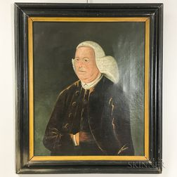 American School, 18th Century       Portrait of a Gentleman in a Powdered Wig