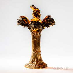 Bronze Lamp After Raoul Francois Larche