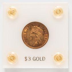 1854 $3 Gold Coin