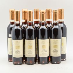 Santa Barbara Winery Lafond Vineyard Late Harvest Sauvignon Blanc 1999, 9 demi bottles