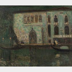 Eugène Laurent Vail (American/French, 1857-1934)      Venice, Clair de Lune