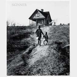 Marion Post Wolcott (American, 1910-1990)      Tenant Farmer's Children, One with Ricketts, Wadesboro, North Carolina