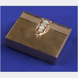 14kt Gold, Opal and Diamond Box