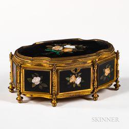 Gilt-bronze-mounted Pietra Dura Box