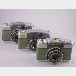 Three Olympus Pen Cameras