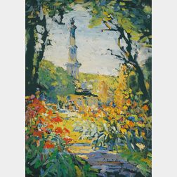 Anna S. Fisher (American, 1873-1942)      The Sunlit Garden