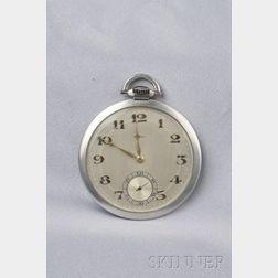 Platinum Open Face Pocket Watch, Cartier