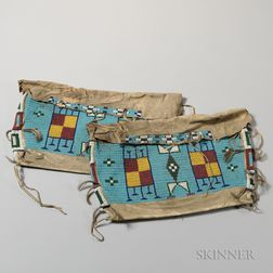 Pair of Lakota Beaded Hide Possible Bags