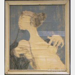 Bernard Reder (American, 1897-1963)      Portrait of a Female Nude