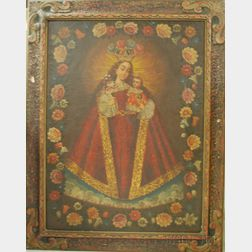 Cuzco School, 19th/20thCentury      Madonna and Child.