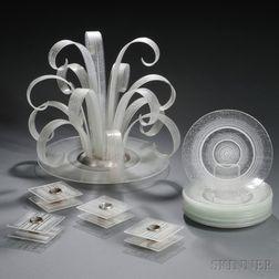 Maurice Heaton (Swiss/American, 1900-1990) Glass Tableware