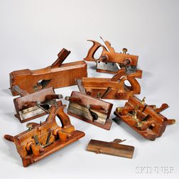 Eight 19th Century Molding and Joiner Planes