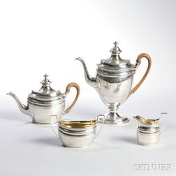Four-piece George III Sterling Silver Tea and Coffee Service