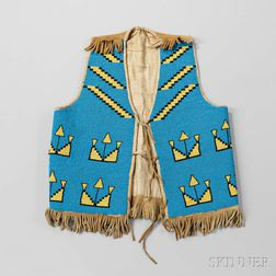 Blackfeet Beaded Hide Vest