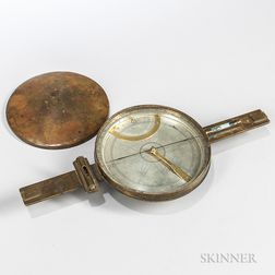 Early Brass Surveyor's Compass
