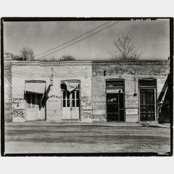 Walker Evans (American, 1903-1975)       Storefronts, Edwards, Mississippi
