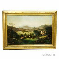 American School, 19th Century       Hillside Landscape