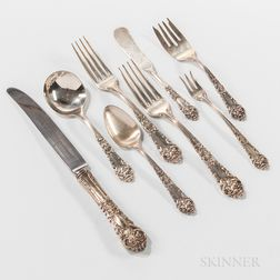 "Reed & Barton ""French Renaissance"" Pattern Sterling Silver Flatware Service"