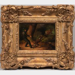 Continental School, 19th Century      Two Framed Genre Scenes: The Hunter