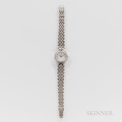 Cyma 14kt White Gold and Diamond Wristwatch and Bracelet
