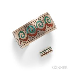 Zuni Sterling Silver Cuff Bracelet and Ring