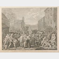 William Hogarth (British, 1697-1764) Four Works: Analysis of Beauty, Plates I & II, To His Maj...