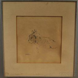 John Edward Heliker (American, 1909-2000)      My Cat