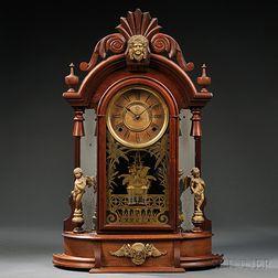 """Ansonia """"Triumph"""" Mirror Side Clock"""