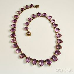 .800 Silver and Amethyst Necklace