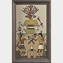 Framed Painting by Pablita Velarde (1918-2006)