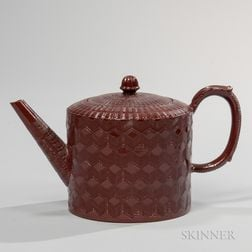 Astbury-type Glazed Redware Teapot and Cover