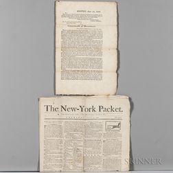 American Newspapers and Broadside: 1789-1835.
